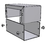 "Hammond 1411G<br>Aluminum Enclosure - <b>4.0""L x 2.2""W x 1.6""H</b> - Grey Painted"