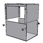 "Hammond 1411L<br>Aluminum Enclosure - <b>5.0""L x 4.0""W x 3.0""H</b> - Grey Painted"