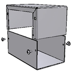 "Hammond 1411N<br>Aluminum Enclosure - <b>5.0""L x 3.0""W x 2.2""H</b> - Grey Painted"