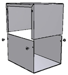 "Hammond 1411P<br>Aluminum Enclosure - <b>6.0""L x 5.0""W x 4.0""H</b> - Grey Painted"
