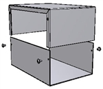 "Hammond 1411Q<br>Aluminum Enclosure - <b>7.0""L x 5.0""W x 3.0""H</b> - Grey Painted"