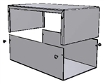 "Hammond 1411U<br>Aluminum Enclosure - <b>10.0""L x 6.0""W x 3.5""H</b> - Grey Painted"
