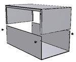"Hammond 1411X<br>Aluminum Enclosure - <b>12.0""L x 7.0""W x 4.0""H</b> - Grey Painted"