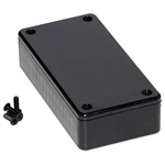 "Hammond 1591ASBK Multipurpose Plastic Enclosure - Economical Version - 3.9""L x 2.0""W x 0.8""D - Black"