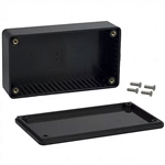 "Hammond 1591BBK Flame Retardant ABS Plastic Enclosure 4.4""L x 2.4""W x 1.1""D Black"