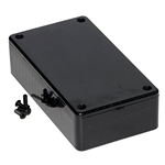 "Hammond 1591BSBK<br>Multipurpose Plastic Enclosure - Economical Version - <b>4.4""L x 2.4""W x 1.1""D - Black</b>"