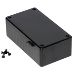 "Hammond 1591CSBK<br>Multipurpose Plastic Enclosure - Economical Version - <b>4.7""L x 2.6""W x 1.4""D - Black</b>"