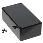 "Hammond 1591DSBK<br>Multipurpose Plastic Enclosure - Economical Version - <b>5.9""L x 3.2""W x 1.8""D - Black</b>"