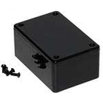 "Hammond 1591LSBK Multipurpose Plastic Enclosure - Economical Version - 3.3""L x 2.2""W x 1.4""D - Black"