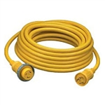 Hubbell HBL61CM08 Shore Cord 30A Yellow 50 Foot
