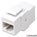 ICI 505147 Cat6 Modular Inline Coupler Keystone Type, 8P8C Female to 8P8C Female, UTP, White
