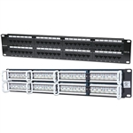 Intellinet 513579 CAT5e Patch Panel - 48-Port, UTP, 2U