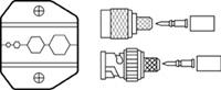 30-578 Ideal Industries<br>Replacement Die Set for Ideal Crimpmaster 30-506 / 30-483 - RG-9, Belden 8281 and RG-6 Cable, 50 & 75 Ohm