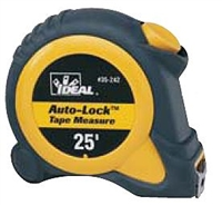 35-242 Ideal Industries<br>Auto-Lock 25 ft. Tape Measure