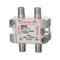 85-333 Ideal Industries<br>5 MHz to- 2.3 GHz 3-Way Satellite Digital Cable Splitter