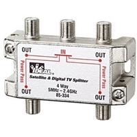 4-Way Satellite Digital Cable Splitter, 5MHz to 2.4GHz | 85-334 Ideal Industries