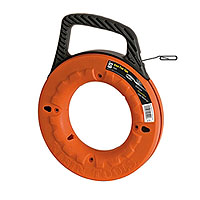 Klein Tools 56002 Wide Steel Fish Tape 65ft.