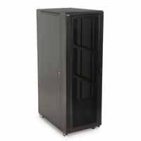 "Kendall Howard 3102-3-001-37 37U LINIER Server Cabinet - Convex/Glass Doors - 36"" Depth"