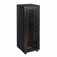 "Kendall Howard 3102-3-024-37 37U LINIER Server Cabinet - Convex/Glass Doors - 24"" Depth"