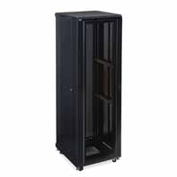 "Kendall Howard 3102-3-024-42 42U LINIER Server Cabinet - Convex/Glass Doors - 24"" Depth"