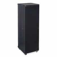 "Kendall Howard 3104-3-024-42 42U LINIER Server Cabinet - Solid/Convex Doors - 24"" Depth"