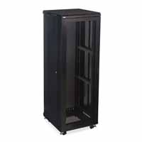 "Kendall Howard 3107-3-024-37 37U LINIER Server Cabinet - Vented/Vented Doors - 24"" Depth"