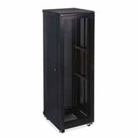 "Kendall Howard 3107-3-024-42 42U LINIER Server Cabinet - Vented/Vented Doors - 24"" Depth"