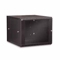 Kendall Howard 3130-3-001-09 9U LINIER Swing-Out Wall Mount Cabinet - Glass Door