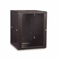 Kendall Howard 3130-3-001-15 15U LINIER Swing-Out Wall Mount Cabinet - Glass Door