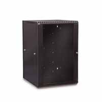 Kendall Howard 3130-3-001-18 18U LINIER Swing-Out Wall Mount Cabinet - Glass Door