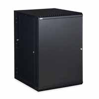 Kendall Howard 3131-3-001-18 18U LINIER Swing-Out Wall Mount Cabinet - Solid Door