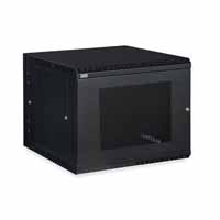 Kendall Howard 3132-3-001-09 9U LINIER Swing-Out Wall Mount Cabinet - Vented Door
