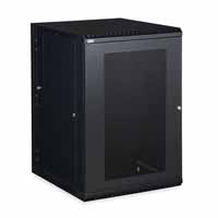 Kendall Howard 3132-3-001-18 18U LINIER Swing-Out Wall Mount Cabinet - Vented Door