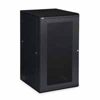 Kendall Howard 3132-3-001-22 22U LINIER Swing-Out Wall Mount Cabinet - Vented Door