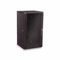 Kendall Howard 3140-3-001-22 22U LINIER Fixed Wall Mount Cabinet - Glass Door
