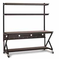 "Kendall Howard 5000-3-104-72 72"" Performance 100 Series LAN Station - African Mahogany"