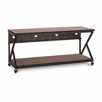 "Kendall Howard 5000-3-303-72 72"" Performance 300 Series LAN Station - Serene Cherry"