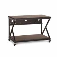 "Kendall Howard 5000-3-304-48 48"" Performance 300 Series LAN Station - African Mahogany"