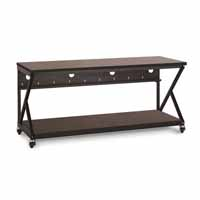 "Kendall Howard 5000-3-304-72 72"" Performance 300 Series LAN Station - African Mahogany"