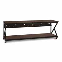"Kendall Howard 5000-3-304-96 96"" Performance 300 Series LAN Station - African Mahogany"