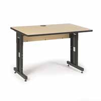 "Kendall Howard 5500-3-001-34 48"" W x 30"" D Training Table - Hard Rock Maple"