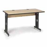 "Kendall Howard 5500-3-001-36 72"" W x 30"" D Training Table - Hard Rock Maple"