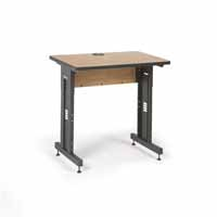 "Kendall Howard 5500-3-002-23 36"" W x 24"" D Training Table  - Caramel Apple"
