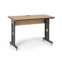 "Kendall Howard 5500-3-002-24 48"" W x 24"" D Training Table - Caramel Apple"