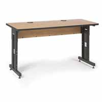 "Kendall Howard 5500-3-002-25 60"" W x 24"" D Training Table - Caramel Apple"