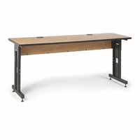"Kendall Howard 5500-3-002-26 72"" W x 24"" D Training Table - Caramel Apple"