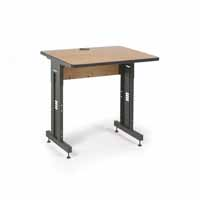 "Kendall Howard 5500-3-002-33 36"" W x 30"" D Training Table  - Caramel Apple"