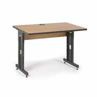 "Kendall Howard 5500-3-002-34 48"" W x 30"" D Training Table - Caramel Apple"