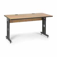 "Kendall Howard 5500-3-002-35 60"" W x 30"" D Training Table - Caramel Apple"