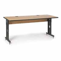 "Kendall Howard 5500-3-002-36 72"" W x 30"" D Training Table - Caramel Apple"